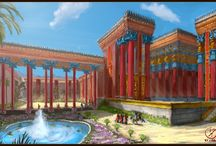 Ancient Persia / Series of paintings I did from Ancient Persia