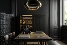 Black Painted Walls and Rooms
