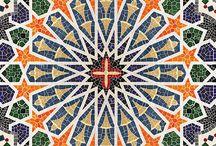 ornamentación geométrica árabe