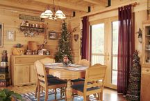 Delightful Log Home Dining Rooms / What better place to have a meal and share wonderful family times together?