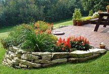 uneven garden ideas sloped yard