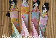 Japanese Kimono Dolls / Japanese kimono dolls made from papers. These adorable dolls are made from washi papers and origami papers. They are perfect for gifts.