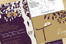 Purple and gold wedding / Purple and gold love bird wedding theme