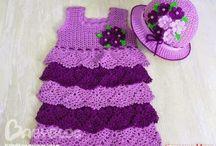 vestidos lilás em crochê