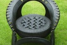 Reycled Tyre Ideas