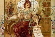 Art Nouveau / Art Nouveau and Jugend artworks