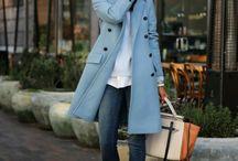 blå jakke