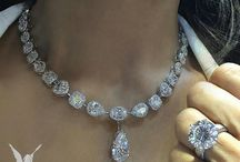 """Diamond Necklaces - Tennis & lookalikes / A collection of pins of comparatively smaller sized diamonds necklaces than the """"Desirable Diamond Necklaces"""" board."""