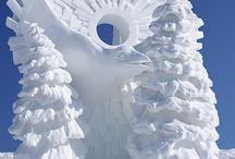 sculptures / Sand snow ice