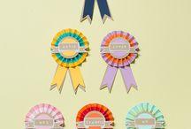 Rosette/birthday/prize Ribbons