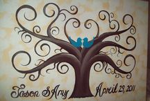 Painted Canvas / Painting ideas / by Lisa Hamburger-Watson
