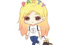 SNSD (Girls' Generation) Fan Art (Cartoon) / Sone drawing members in SNSD. Taeyeon, Jessica, Sunny, Tiffany, Hyoyeon, Yuri, Sooyoung, Yoona, Seohyun