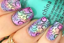 Stamping nailart 5 / whoever invented this is brilliant.....endless creative expressions / by Dorothy Ng (Nailart Lover)