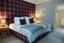 The Tartan Lodge / An sneaky peak into Myres Tartan Lodge, newly refurbished in 2015. Sleeping up to 4 guests, the lodge can be hired for the weekend along with the castle for your wedding.
