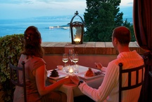 Restaurant, Hotel Villa Carlotta / Breakfast, lunch or a romantic candlight evening meal, our restaurant offer breathtaking views any time of day / by Hotel Villa Carlotta Taormina