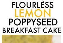 Flourless lemon poppyseed cake. vegan