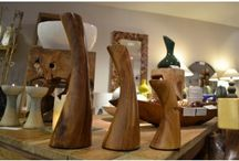 wood wood wood / Wooden candle holders, saucers, etc.