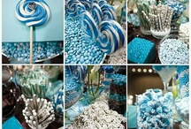 Blue sweet/dessert table inspiration / Inspiration for a display we are planing for one of our brides