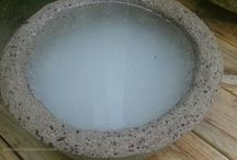 Hypertufa Pots / Home Made concrete pots