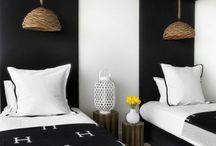 chambre noire et blanc