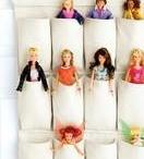 Fali tartók Barbie-hoz