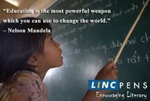 Encouraging Literacy / At Linc Pens, we don't only sell pens, we also encourage literacy