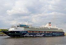 Schiffe / Fähren, Schiffe und Kreuzfahrtschiffe