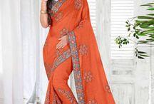 Chinon saree