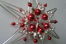 Vánoční hvězdy / vyrábím retro vánoční ozdoby ze skla a foukaného skla