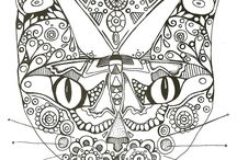ART THERAPY / COLORING FOR ALL, ZENTANGLE, DOODLE,