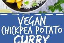 vegan chickpea potato curry