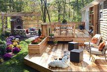ogród, patio