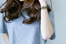 Medium length hairstyle
