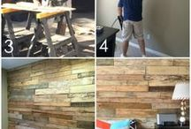 How to make pallet wall