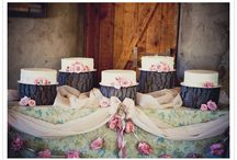 Cakes - rustic / Cakes on logs, rustic cakes, tiered cakes with a woodlandy twist... / by English Wedding Blog