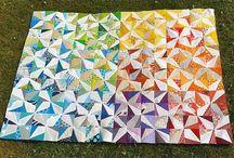 Pinwheel Blocks / Pattern, Tutorials, Freebies, and layouts for pinwheel blocks and quilts