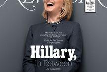 Hillary Clinton in beeld