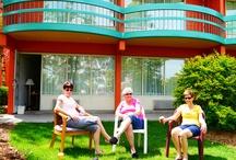 People on Clifton Hill, Niagara Falls