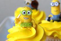 cupcake tema minions