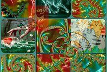 Art work / Fraktal kunst trykket på lerret fra 20x20 opptil 50x50 cm Ta kontakt på info@liberty-angel.info