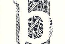 Zentangle alphabets