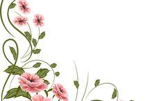 yazı yazmalı çiçekler