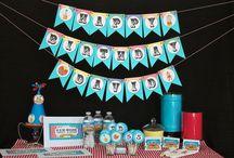 Rainbow Retro Circus Theme Birthday Party
