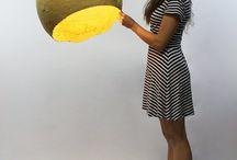 Paper Maché Lamp Shades