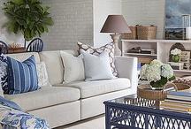 seaside living room  white & sand