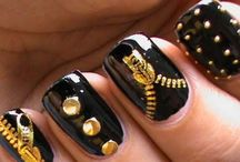 Jeans and zipper Nail Art Designs