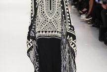 How to style: black white etno skirt
