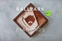 Ballpark Diamonds / Gallery for Ballpark Diamonds, our laser cut, hand assembled relief sculpture of your favorite stadium.