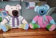 Knitted Toys / Knitted toys including teddy bears.