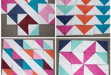 Half Square Triangles / Quilts and layouts for Half Square Triangles